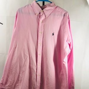 Men's Polo Ralph Lauren Long-Sleeve  Shirt Pink